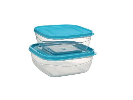 M-054 - SOFT & LOCK SQUARE FOOD SAVER (Set of Two) (1,6 LT + 2,4 LT)