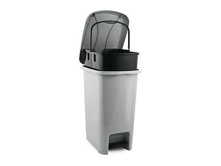 M-1053 SLIM PEDAL DUSTBIN WITH inner BUCKET (32 X 23 X 40 CM) 12,5 L