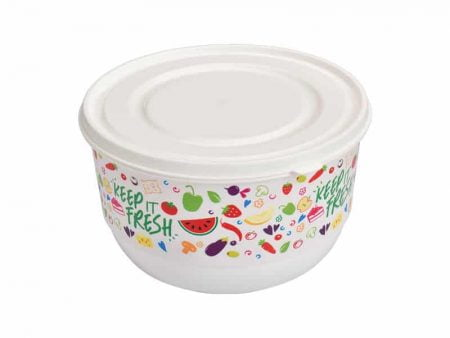 M-1403 TRENDY COLORED FOOD SAVER WITH IML DESIGN Ø 150x90mm 1000 ml