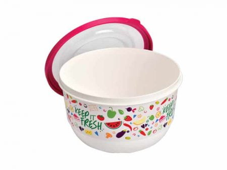 M-1404 TRENDY COLORED FOOD SAVER WITH IML DESIGN Ø 150x90mm 1000 ml