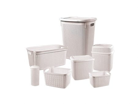 M-2028 KNIT MODEL BATHROOM SET - 7 PCS