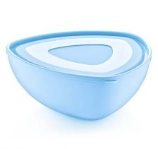 M-797 FIT PLASTIC TRIANGLE BOWL WITH LID (25 X 10 CM) 3 LT