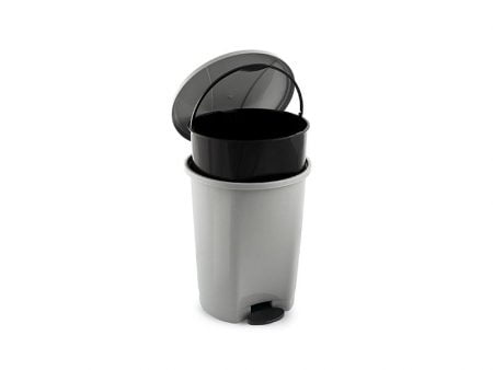 M-827 ROUND PEDAL DUSTBIN WITH BUCKET (38,5 X 46,5 CM) 28 LT