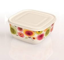 M-883 TRENDY COLORED FOOD SAVER WITH IML DESIGN (17,4x17,4x10 CM ) 1,9 L