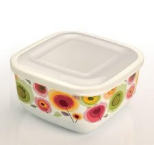 M-884 TRENDY COLORED ELEGANT FOOD SAVER WITH IML DESIGN (17,4x17,4x10 CM ) 1,9 L
