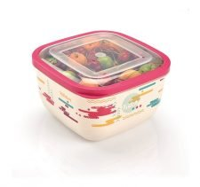 M-897 TRENDY COLORED ELEGANT FOOD SAVER WITH IML DESIGN (19,5x19,5x11 CM ) 2,6 L