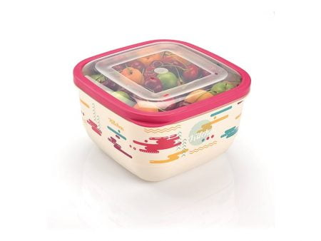 M-903 TRENDY COLORED ELEGANT FOOD SAVER WITH IML DESIGN (22x22x12 CM ) 3,6 L