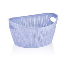 M-069 OVAL KNIT DESIGN BASKET ( 35 X 29 X 18,5 CM) - 9 L