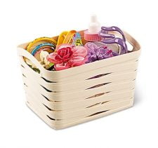 M-094 PLASTIC BASKET WITH RIBAND DESIGN (16,5 X 12,5 X 10,7 CM) 1,5 L