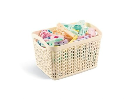 M-095 KNIT DESIGN BASKET (16,5 X 12,5 X 10,7 CM) 1,5 L