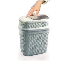 M-136 - WHIRLPOOL DUSTBIN WITH DROP DESIGN (16,5 x 12,5 x 19 cm) - 2 L