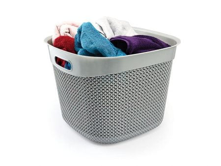 M-169 - SQUARE BASKET WITH DROP DESIGN-36 L