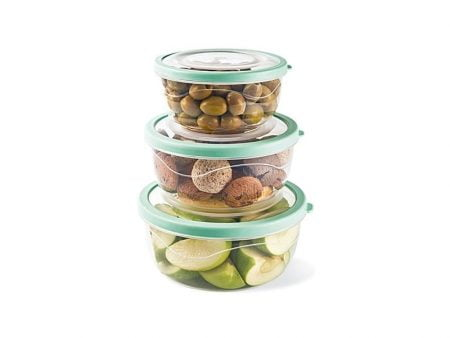 M-865 ELEGANT ROUND FOOD SAVER (Set Of Three) - (0,85 L + 1,4 L + 2 L)