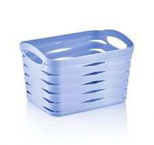 M-092 PLASTIC BASKET WITH RIBAND DESIGN ( 21 x 16 x 13,8 CM) 3,3 L