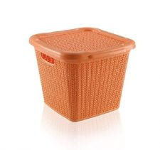 M-071 PLASTIC BASKET WITH KNIT DESIGN (32,0 X 30,5 X 26,0 CM) - 15 LT