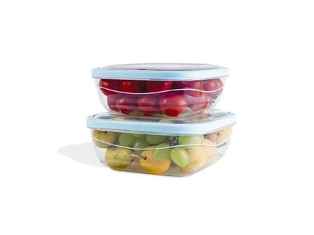 M-938 ELEGANT SQUARE FOOD SAVERS (Set of Two) (1,1 L + 1,6 L)