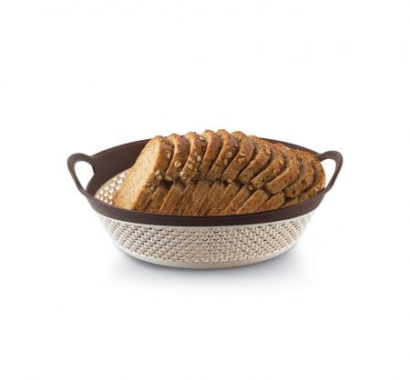 M-1269 - DOUBLE COLOUR DROP DESIGN BASKET - (28,2 x 23,5 x 9,5 cm) - 2,6 L